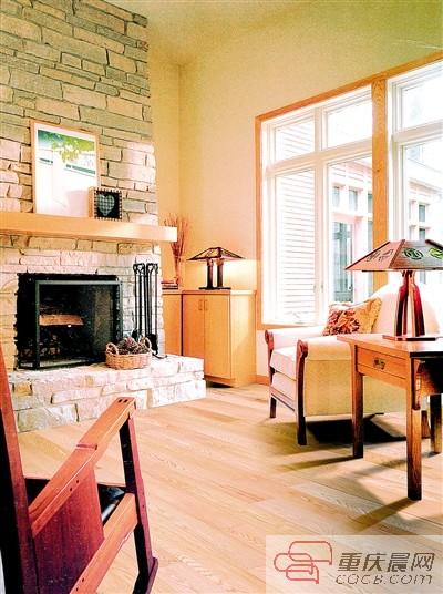 红木家具配胡桃木地板图片